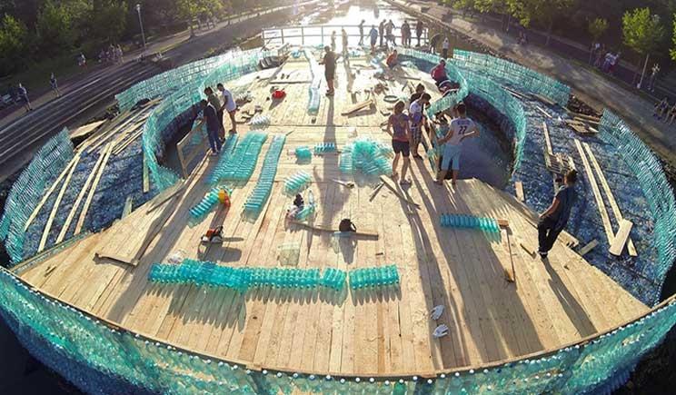 costruito il ponte di plastica riciclata pi grande del mondo