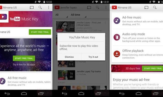 YouTube, in arrivo il servizio in abbonamento Music Key