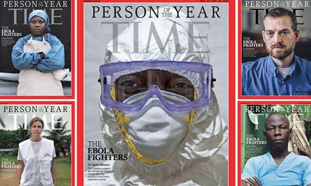 La copertina di Time dedicata agli angeli dell'Ebola