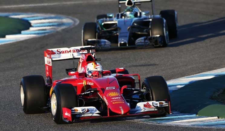 F1: Vettel svetta nella seconda giornata di test a Jerez