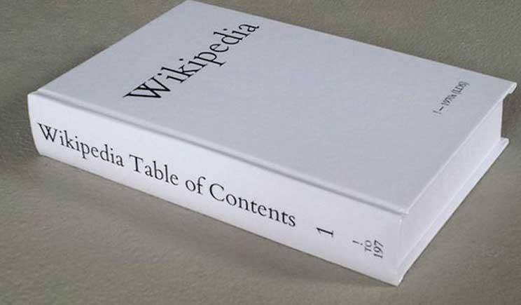 Wikipedia si trasferisce su carta (ma solo per scopi artistici)