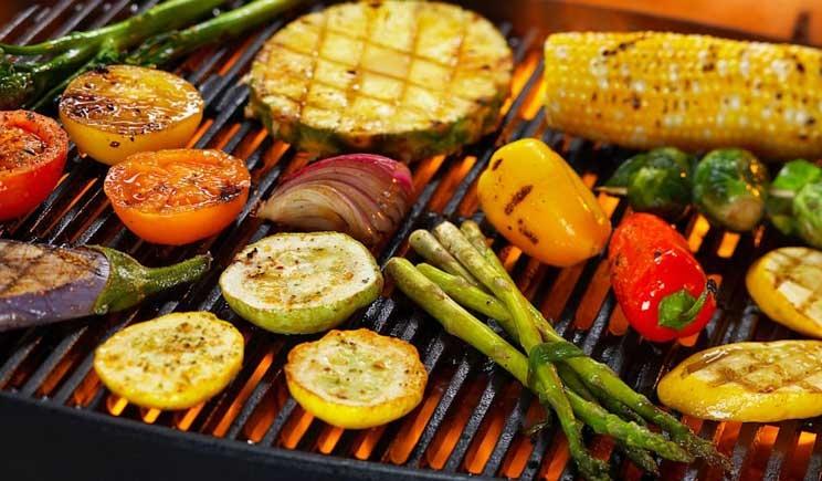 Le verdure cotte alla griglia sono ricche di antiossidanti