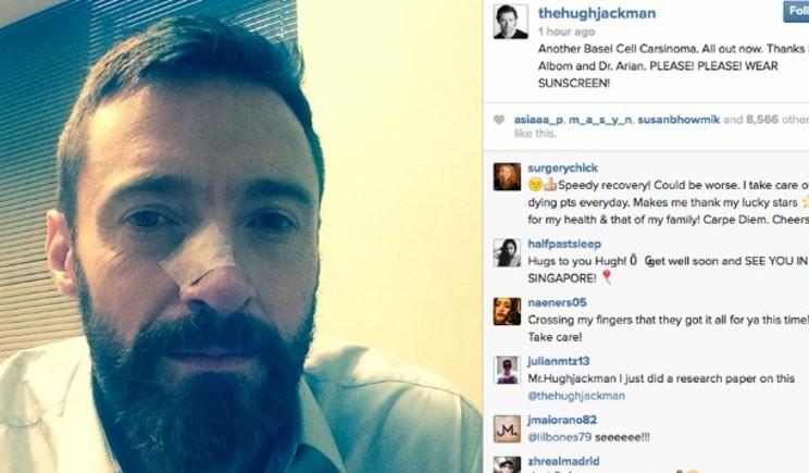 Hugh Jackman, colpito da tumore, lancia un appello su Instagram