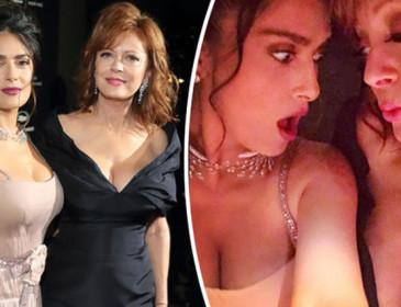 Selfie in salsa sexy per Susan Sarandon e Salma Hayek