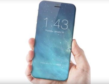 IPhone 8 con schermo trasparente e privo di cornici?