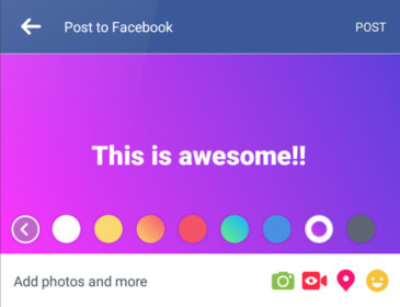Facebook, ecco i post colorati e i live audio